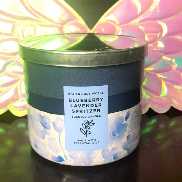 BBW 3 wick candle Blueberry Lavender Spritzer
